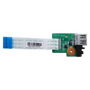 Плата 1xUSB со шлейфом 12-pin 67×14 мм для ноутбуков HP Pavilion dv6-3000, dv6-3xxx серий (DA0LX6TB4D0, 36LX6UB0000)