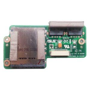 Плата 2xUSB + картридер для ноутбука Asus K51, K61, K70, X70, K51AB, K70AB, K51AC, K61IC, K70A, K70AF, K70IJ, X5EAD, X5EA, X70AC, X70A, X70I, X70AB, PRO79 (K51IO USB CR BOARD, 60-NVPUS1000-B03)