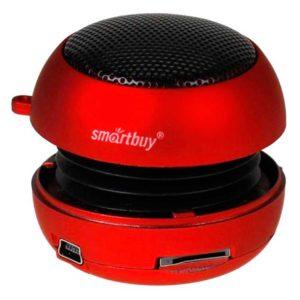 Портативная колонка SmartBuy® POP BUG 2.4 Вт, встроенный аккумулятор, резонатор, Red Красная (SBS-1600)