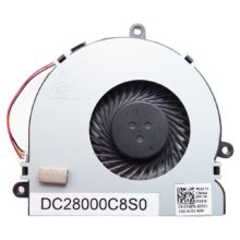 Вентилятор для ноутбука Dell Inspiron 3521, 5521, 3737, 3721, 5721, 74X7K, I15RV-1667BLK 3-pin fan DC5V 0.40A (DC28000C8S0)