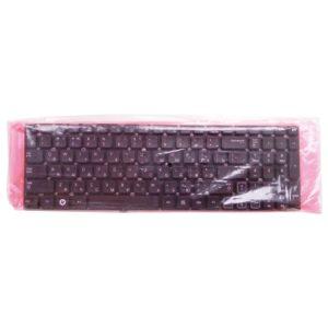 Клавиатура для ноутбука Samsung RC508, RC510, RC520, RV509, RV511, RV513, RV515, RV518, RV520 без рамки, Black Черная (OEM)