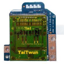 Плата картридера для ноутбука Acer Aspire 5251, 5551, 5551G, 5552, 5552G, 5741, 5742G, eMachines E640, E642, Packard Bell Easynote TM86 NEW91, Packard Bell Easynote TE11, TE11HC, TM82 NEW95, Gateway NV53A со шлейфом 8-pin 169x9 мм (NEW70 LS-5896P, NBX0000NK00, AWM 20706 105C 60V VW-1, CviLux E208903-3)