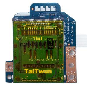 Картридер со шлейфом 8-pin 169×9 мм для ноутбука Acer Aspire 5251, 5551, 5551G, 5552, 5552G, 5741, 5742G, eMachines E640, E642, Packard Bell Easynote TM86 NEW91, Packard Bell Easynote TE11, TE11HC, TM82 NEW95, Gateway NV53A (NEW70 LS-5896P, NBX0000NK00, AWM 20706 105C 60V VW-1, CviLux E208903-3)