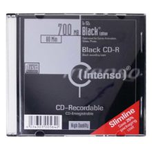 Диск CD-R Intenso 700 Мб 80 min 52x Black Edition Slim