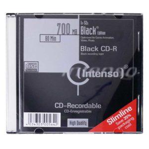 Коробка на 1 CD/DVD-диск Intenso 700 Мб 80 min 52x Black Edition Slim (без CD-диска)