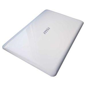 Крышка матрицы ноутбука MSI X340, X370, S30, MS-1352, MS-1356, MS-1358, 0M-049, 0M-007, 0M-080 White Белая (E2P-351A123-Y31, 351A133Y31, E2P-351AX2X-Y31)