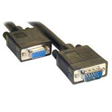 Удлинитель VGA, SVGA 15M — 15F с фильтрами 3 метра Black Черный