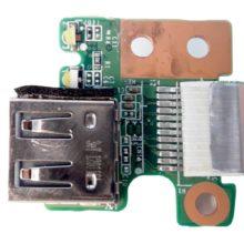 Плата 1xUSB со шлейфом 12-pin 65x13 мм для ноутбука HP Pavilion g6-2000, g6-2xxx (DAR33TB16C0, 34R33UB0010)