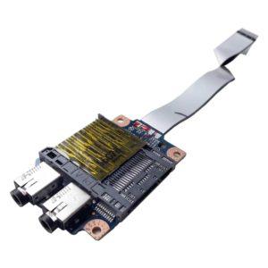 Плата AUDIO и CARDREADER со шлейфом 12-pin 120 мм для ноутбука Lenovo G570, G575 (PIWG1 LS-6751P, PIWG2 NBX0000SN00)