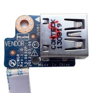 Плата 1xUSB со шлейфом для ноутбука Lenovo IdeaPad G500, G505 (LS-9632P, 455MC738L01, VIWGR NBX0001DG00)