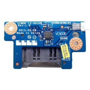 Картридер со шлейфом 4-pin 110 мм для ноутбука Lenovo IdeaPad G500, G505 (LS-9633P, 455MC838L01, VIWGR/S NBX0001DC00)