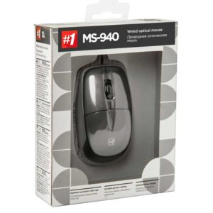 Мышь USB Defender MS-940 Grey Серый