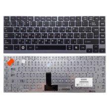 Клавиатура для ноутбука Toshiba Satellite M800, N860, U800, U800W, U830, U840, U845, U900, U920, U920T, U925, U940, Z830, Z835 Black Черная, Рамка - Grey Серая (AEBU6700010-RU, N860-7835-T113)