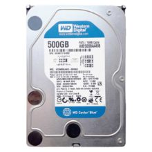 "Жесткий диск 500 ГБ 3.5"" Western Digital WD Blue IDE, 500 Гб, буфер 16 Мб, скорость вращения 7200 rpm, cреднее время доступа 8.9 мс (WD5000AAKB) Б/У"