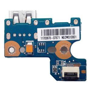 Плата 1xUSB для ноутбука Toshiba Satellite C850, C850D, C855, C870, C875, C875D, L850, L850D, L870, L875 (N0ZWG10B01, PL/CS SUB BRD)