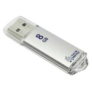 Флеш-накопитель 8 ГБ USB 2.0 SmartBuy V-Cut Silver Серебристый (SB8GBVC-S)