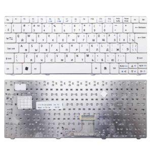 Клавиатура для ноутбука Acer Aspire 1410, 1410T, 1425, 1425P, 1430, 1430Z, 1551, 1810, 1810T, 1810TZ, 1830, 1830T, 1830TZ, Travelmate 8172, 8172T, Aspire One 721, 722, 751, 751H, 752, 752H, 753, 753H, Ferrari One 200, Gateway EC13, EC14, EC19C, LT31, LT32, LT33 White Белая (PK130I23A08, PK130123A08)