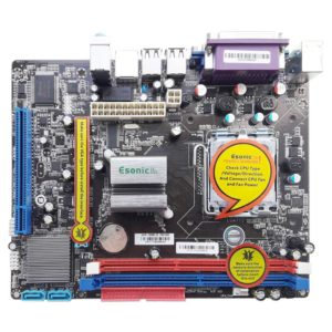 Материнская плата Esonic G41M-COMBO LGA775 Intel G41 1xDDR3-1333/1xDDR2-1066, PCI-E x16, VGA D-SUB, 1xPCI, 2xSATA, 1xIDE, COM, LPT, Lan,  mATX (G41CEL)