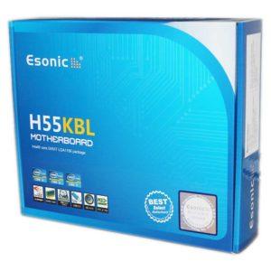 Материнская плата Esonic H55KBL(2) LGA1156 Intel H55, 2xDDR3-1333, PCI-E x16, VGA DSUB, Audio 5.1HD, LAN, 4xSATA, 4xUSB, COM, MicroATX (H55KBL)
