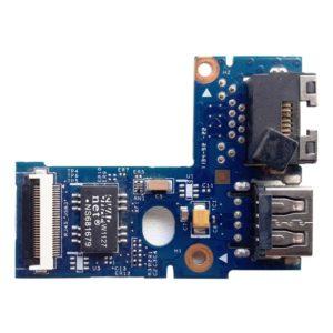 Плата 1xUSB + LAN RJ45 Ethernet для ноутбука Lenovo IdeaPad B570e, B570, B575, Z570, Z575 (55.4PA03.021G, LZ57 RJ45_USB BD, 48.4PA05.02M)