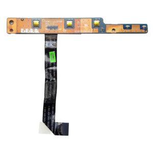 Кнопка включения, старта, запуска + дополнительные кнопки Recovery и Energy Management со шлейфом 8-pin 93 мм для ноутбука Lenovo IdeaPad G560, G565, Z560, Z565, B450 (LS-5754P, NIWE2 NBX0000MG00, CviLux E208903-3 AWM 20706 105C 60V VW-1)