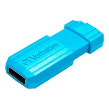 Флеш-накопитель 16 ГБ USB 2.0 VERBATIM PinStripe Blue Голубой