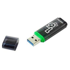 Флеш-накопитель 16 ГБ USB 3.0 SmartBuy Glossy series Dark Grey Серый (SB16GBGS-DG)