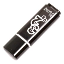 Флеш-накопитель 32 ГБ USB 2.0 SmartBuy Glossy series Black Черный