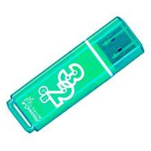 Флеш-накопитель 32 ГБ USB 2.0 SmartBuy Glossy series Green Зеленый