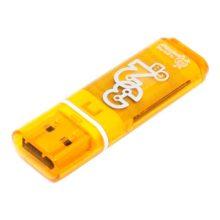 Флеш-накопитель 32 ГБ USB 2.0 SmartBuy Glossy series Orange Оранжевый