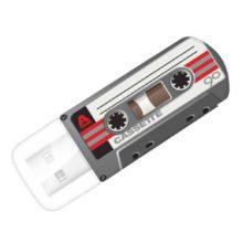 Флеш-накопитель 32 ГБ USB 2.0 VERBATIM Mini Cassette Edition Black Черный