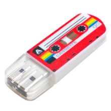 Флеш-накопитель 32 ГБ USB 2.0 VERBATIM Mini Cassette Edition Red Красный