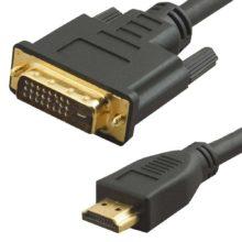Кабель HDMI - DVI 10 метров, Black Черный (VCOM CG551, 08551110-HDVI)