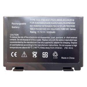 Аккумуляторная батарея для ноутбука Asus K40, K50, K60, K61, K70 11.1V 5200mAh 58Wh (A32-F82, A32-F52)