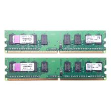 Модуль памяти DDR2 2 ГБ (1 ГБ x 2) PC2-6400 800 Mhz DIMM Kit Kingson (KVR800D2N6K2/2G)