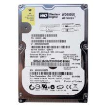 """Жесткий диск 60 ГБ IDE 2.5"""" WD 600UE 5400 rpm 2 МБ для ноутбуков (WD600UE-22KVT0) Б/У"""