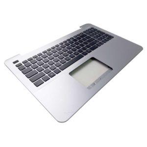 Верхняя часть корпуса с клавиатурой для ноутбука Asus A555L, A555LA, A555LB, A555LD, A555LF, A555LN, A555LP, F555L, F555LA, F555LD, F555LJ, F555LN, F555LP, K555L, K555LA, K555LD, K555LI, K555LJ, K555LN, K555LP, K555Z, K555ZA, K555ZE, R511L, R511LB, R556L, R556LA, R556LD, R556LJ, R556LN, R556LP, X554LA, X554LD, X554LI, X554LJ, X554LN, X554LP, X555D, X555DA, X555DG, X555L, X555LA, X555LB, X555LD, X555LF, X555LI, X555LJ, X555LN, X555LP без тачпада, Silver Серебристая (13N0-R7A0A13, 13NB0622AP0312, 13NB0622P04022, NSK-USA0R, 0KNB0-612RRU00)