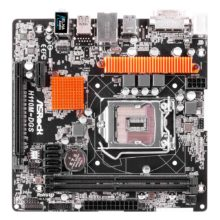 Материнская плата ASRock H110M-DGS Intel H110, 1xLGA1151, 2xDDR4 DIMM, DVI, 1xPCI-E x16, USB 3.0, встроенный звук: HDA, 7.1, Ethernet: 1000 Мбит/с, форм-фактор microATX