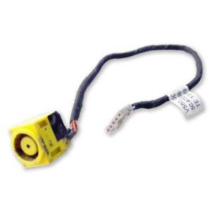 Разъем питания 7.9×5.6 с кабелем 5-pin 185 мм для ноутбука Lenovo IdeaPad V580, V580C, B590 (50.4TE08.021, V580_DC_in_CABLE)