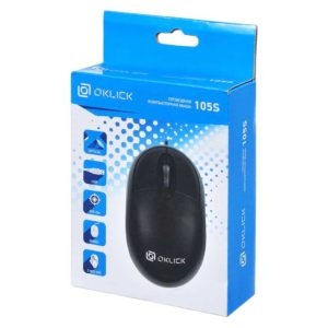 Мышь USB Oklick 105S для ноутбука Black Черная