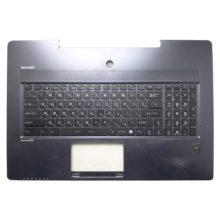 Верхняя часть корпуса с клавиатурой и подсветкой для ноутбука MSI GS72 без тачпада (E2P-77105XX-CGO, PAFR-00127-UF-1, UK 09JM0030) Уценка!