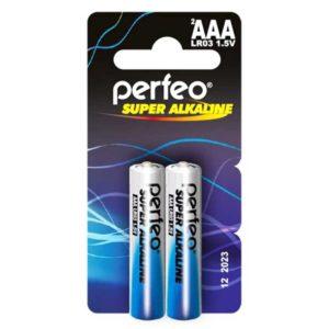Батарея AAA Perfeo LR03/2BL mini Super Alkaline, в упаковке 2 шт (LR03/2BL mini)