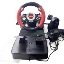 Игровой руль DEFENDER CHALLENGE MINI USB + вибрация руля + педали Б/У