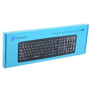 Клавиатура USB Oklick 90M проводная, Black Черная (402127)