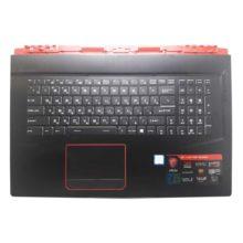 Верхняя часть корпуса с клавиатурой для ноутбука MSI GE73, GE73VR, GE73VR 7RF без тачпада (E2P-7C1C2XX-Y87, 3077C1C211HG0, NSK-FCABN 0R, 9Z.NEKBN.A0R) Б/У