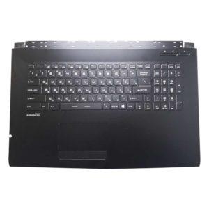 Верхняя часть корпуса с клавиатурой и подсветкой для ноутбука MSI GP72 без тачпада (E2P-793C222-P89, 160408-006, 307793C222P89, V143422FK1 RU, S1N3ERU, S1N3ERU2T1SA000) Б/У