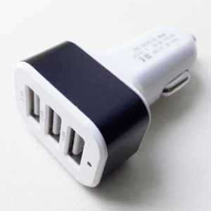 Автомобильное зарядное устройство 3xUSB 5V 1A White/Black Белый/Черный (CC018-3U)