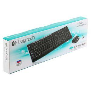 Комплект – клавиатура + мышь Logitech Wireless Combo MK270 беспроводной, Black Черный (920-004518)