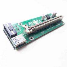 Райзер для видеокарт на майнинг ферму USB 3.0 Riser PCI-E 1X TO 16X, без переходника PCI-Express 1x и кабелей (PCE164P-N03 VER 002, XHF-018) Б/У