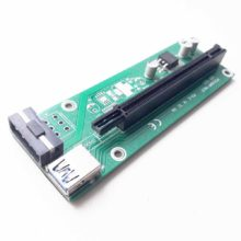 Райзер для видеокарт на майнинг ферму USB 3.0 Riser PCI-E 1X TO 16X, без переходника PCI-Express 1x и кабелей (PCE164P-N03 VER 003) Б/У